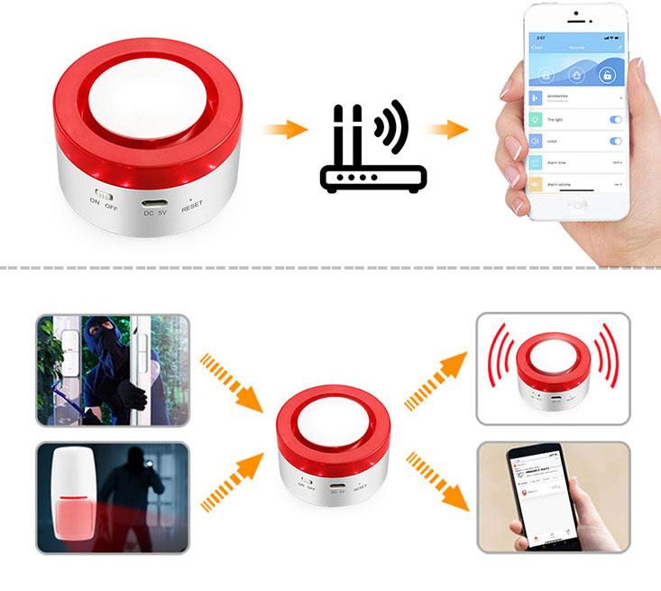 دزدگیر wifi siren